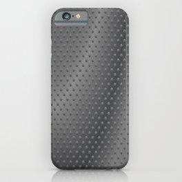 Dimpled Metal Texture Gunmetal iPhone Case