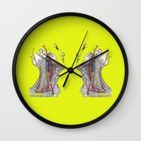 anatomy Wall Clocks featuring Dual anatomy by Antoine