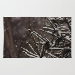 Snow Upon the Branches (Color) Rug