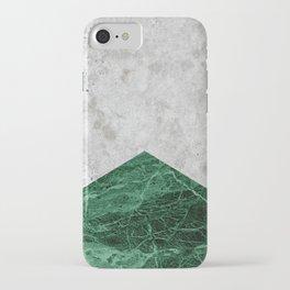Concrete Arrow Green Granite #412 iPhone Case