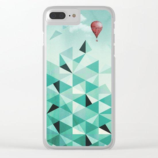 Emerald City (Blue Sky Version) Clear iPhone Case