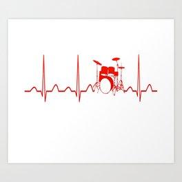 DRUMS HEARTBEAT Art Print