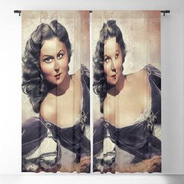 Rhonda Fleming, Vintage Actress Blackout Curtain