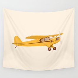 Little Yellow Plane Wall Tapestry