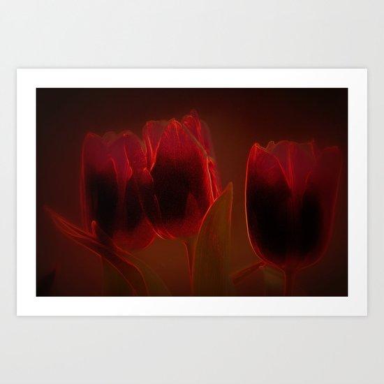 Rote Tulpen Art Print