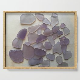 Genuine Purple Sea Glass Collection Serving Tray