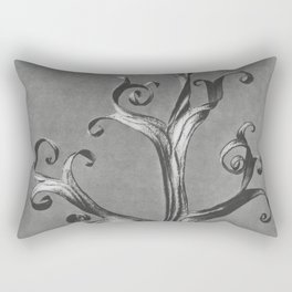 Asclepias Syriaca (Common Milkweed) enlarged 18 times from Urformen der Kunst (1928) by Karl Blossfe Rectangular Pillow