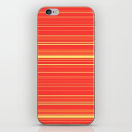 Yellow Orange Candy Lines iPhone Skin