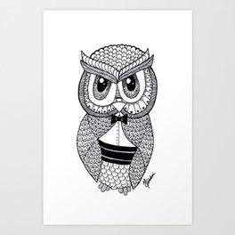 Richie the Owl Art Print