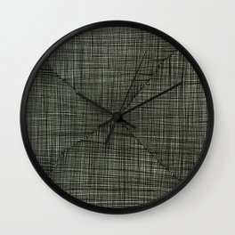 Ink Weaves: Charcoal Wall Clock
