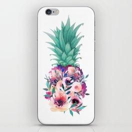 Floral pineapple iPhone Skin