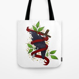 The Raven and the Sword Tote Bag