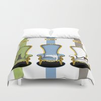 game of thrones Duvet Covers featuring Cats on Thrones (2) by Vannina