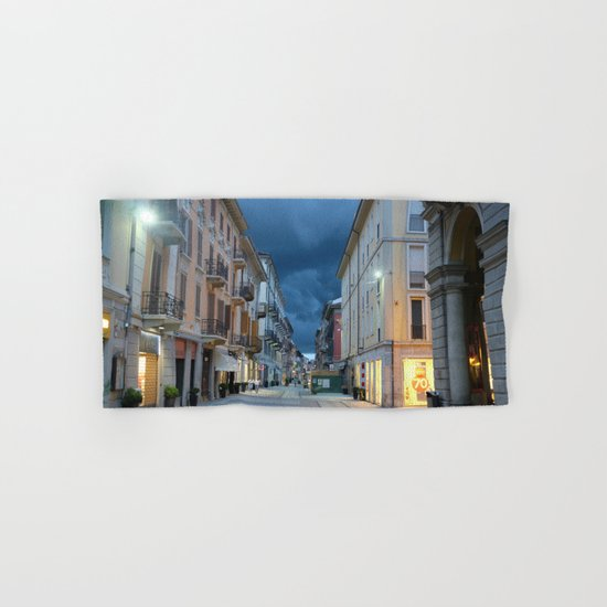 A stormy night in Alessandria, Italy Hand & Bath Towel