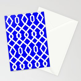 Grille No. 3 -- Blue Stationery Cards
