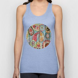 Kashmir on Wood 02 Unisex Tank Top