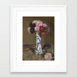 Sir George Clausen, R.A., R.W.S., R.I. 1852-1944 ASTERS Framed Art Print