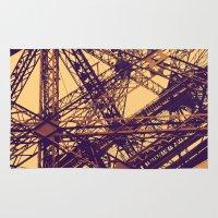 eiffel Area & Throw Rugs featuring Eiffel by adrianperive