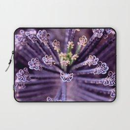 Purple Euphorbia in Detail Laptop Sleeve