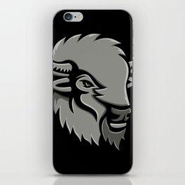 American Bison Head Metallic Icon iPhone Skin