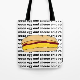 bacon egg and cheese Tote Bag