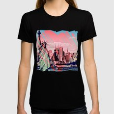 THIS CITY!  |  New York Love Black Womens Fitted Tee MEDIUM
