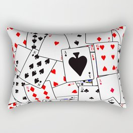 Random Playing Card Background Rectangular Pillow