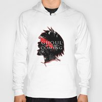 tokyo ghoul Hoodies featuring GHOUL IS COMING by 666HUGHES