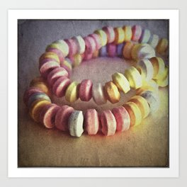 RETRO CANDY NECKLACE Art Print