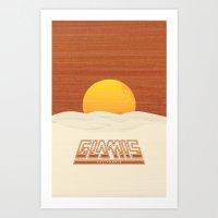 Glamis, California Art Print