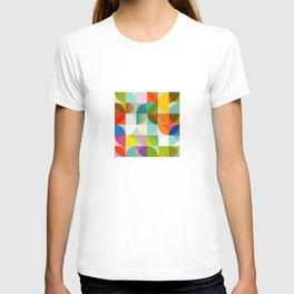 mid century geometry vibrant colors T-shirt