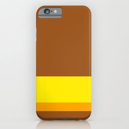 Solid Color Autumn w/ Divider Lines - Illustration Brown Yellow Orange Art iPhone Case