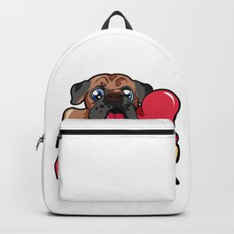 German Boxer Dog Doggie Puppy Dogs Owner Backpack