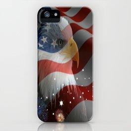 Patriotic America iPhone Case