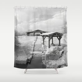 Where Jesus was Baptized Shower Curtain