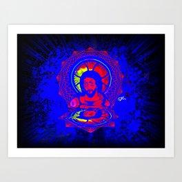 Neon Jesus Art Print