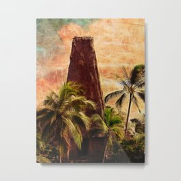 Fijian Temple Metal Print