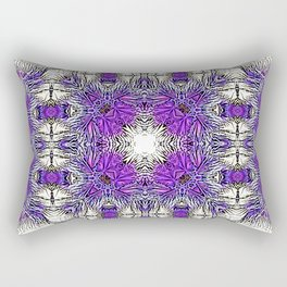 Palm Leaves Abstract Art Pattern Rectangular Pillow