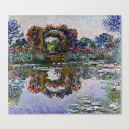 Claude Monet  -  The Artists Garden At Giverny Canvas Print