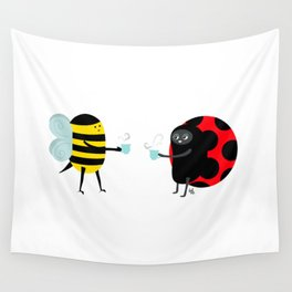 Bee-Time Tea-Time Wall Tapestry