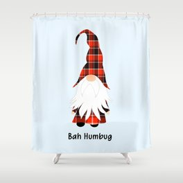 Bah Humbug, Funny Cute Gnome Shower Curtain