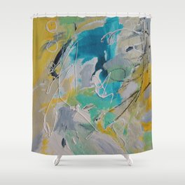 To the Beach! Shower Curtain