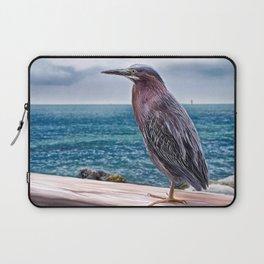 Key West Green Heron -  Photo painting Laptop Sleeve
