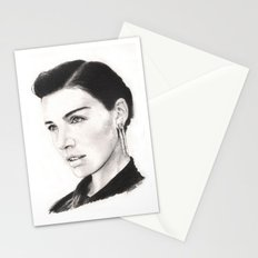jessica paré...  mrs. draper comes to town. Stationery Cards