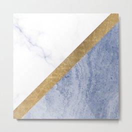 Marble luxe - periwinkle blue Metal Print