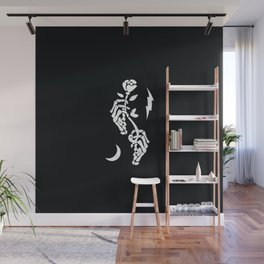 Skeleton Hands Wall Mural