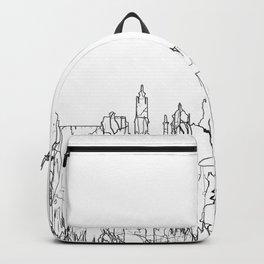 Glasgow, Scotland UK Skyline B&W - Thin Line Backpack