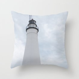 1st Lake Huron Lighthouse Throw Pillow
