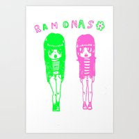 ramones Art Prints featuring Ramonas by IvyPowers