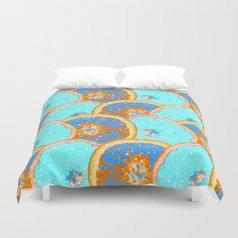 Blue oranges Duvet Cover